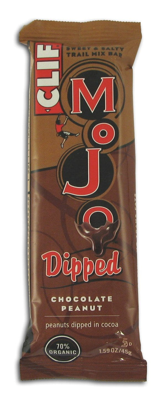 Clif Bar Mojo Dipped Chocolate Peanut Bar - 12 x 1.59 ozs.