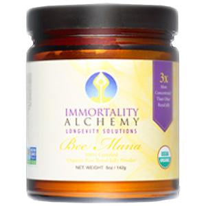 Immortality Alchemy Bee Mana, Royal Jelly Powder, Raw, Organic - 5 ozs.