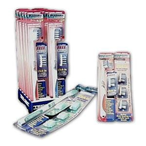Eco-Dent Brushhead REFILL (pk of 3) MEDIUM - 6 x 1 pk.