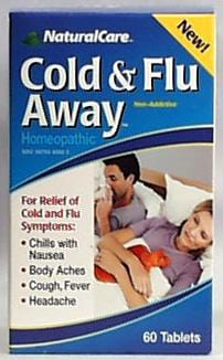 Natural Care Cold and Flu Away - 60 tablets