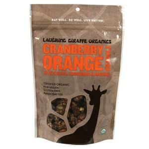 Laughing Giraffe Organics Cranberry Orange Granola, Raw, Organic - 6 ozs.