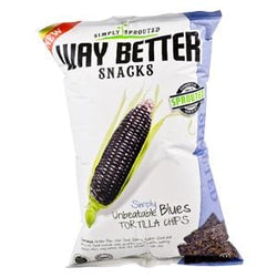 Way Better Snacks Tortilla Chips, Sprouted, Unbeatable Blues - 12 x 5.5 oz