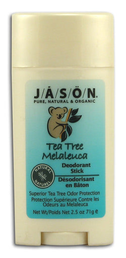 Jason Tea Tree Deodorant Stick - 2.5 ozs.