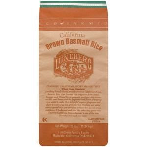 Lundberg Rice, Basmati, Brown, Eco-Farmed - 25 lbs.