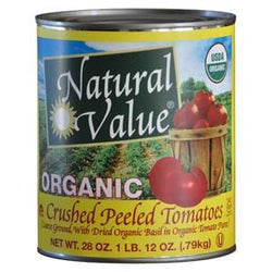Natural Value Tomatoes with Basil, Crushed, Organic - 12 x 28 ozs.