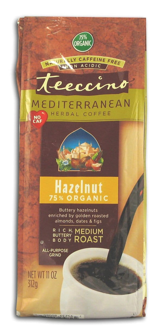 Teeccino Hazelnut Herbal Coffee - 6 x 11 ozs.