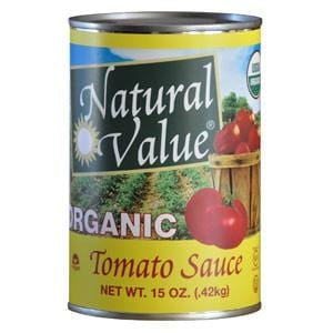 Natural Value Tomato Sauce, Organic - 15 ozs.