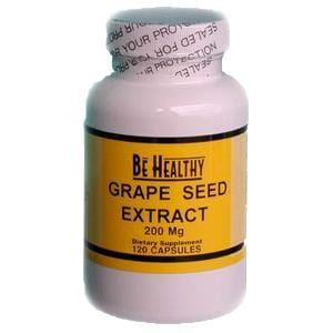 Be Healthy Grape Seed Extract 200mg - 120 caps