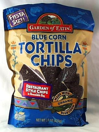 Garden of Eatin' Blue Corn Tortilla Chips Fiesta Size - 22 ozs.