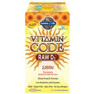 Garden of Life Vitamin Code, Raw D-3 - 60 caps