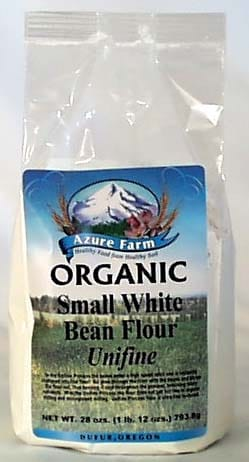Azure Farm Small White Bean Flour Organic - 28 ozs.