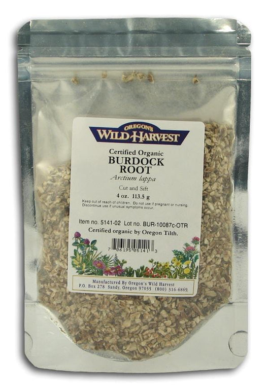 Oregon's Wild Harvest Burdock Root Cut & Sifted Organic - 4 ozs.