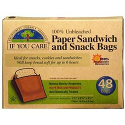 If You Care Paper Sandwich Snack Bags - 48 bags