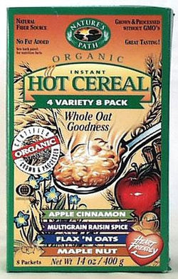 Nature's Path Instant Hot Cereal Variety Pack - 6 x 8 packs