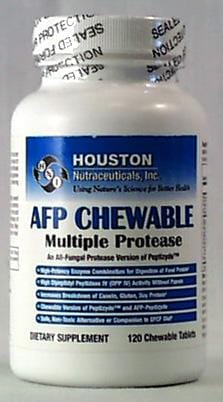 Houston Nutraceuticals AFP-Chewable Multiple Protease - 120 tablets