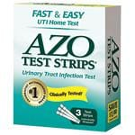 AZO Natural Feminine Relief Products Test Strips Urinary Tract Infection Test 3 ct