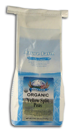 Azure Farm Yellow Split Peas Organic - 5 lbs.