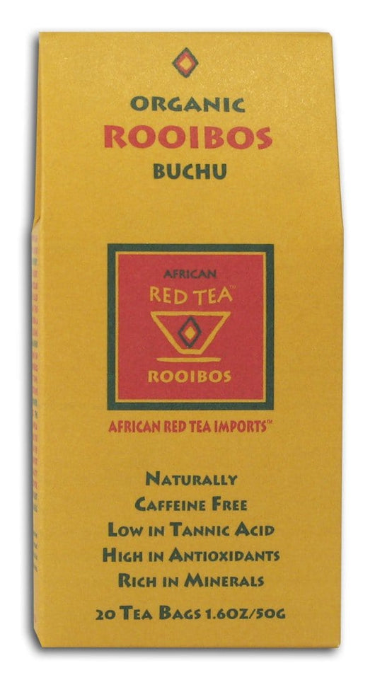 African Red Tea Rooibos Buchu Tea Organic - 12 x 1 box
