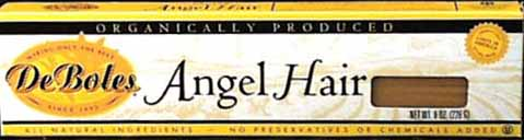 DeBoles Angel Hair Organic - 3 x 8 ozs.