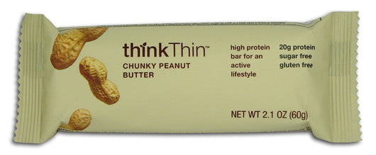Think! Chunky Peanut Butter Low Carb Bar - 10 x 2.1 ozs.