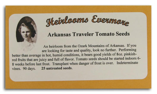 Heirlooms Evermore Arkansas Traveler Tomato Seeds - 25 seeds
