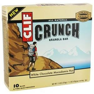 Clif Bar White Chocolate Crunch Granola Bars - 12 x 7.4 ozs.