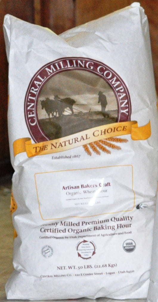 Central Milling Artisan Bakers Craft Unbleached White Flour, Organic - 50 lbs.