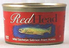 Pure Alaska Red Head Wild Sockeye Salmon - 12 x 7.5 ozs.
