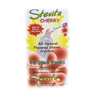 Stevita Cherry Stevia Drink Mix Sticks 10 Sticks - 1 box