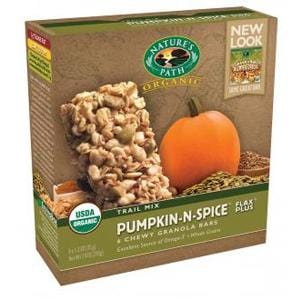 Nature's Path Pumpkin-N-Spice Granola Bar (6 Bars/Box), Organic - 6 x 7.4 ozs.