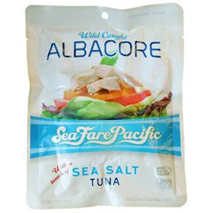 Sea Fare Pacific Albacore Tuna, Sea Salt - 24 x 6 ozs.