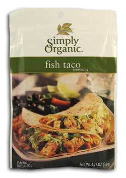 Simply Organic Fish Taco Seasoning Organic - 3 x 1.13 ozs.