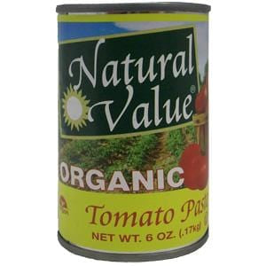 Natural Value Tomato Paste, Organic - 24 x 6 ozs.