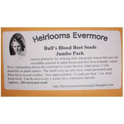 Heirlooms Evermore Bull's Blood Beet Seeds - 240 seeds