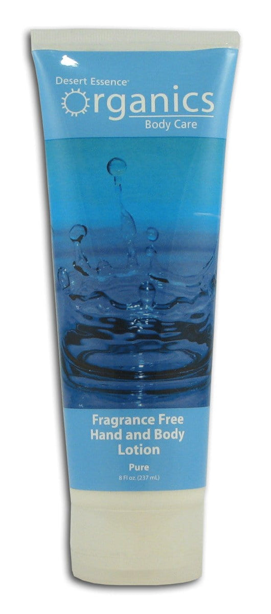 Desert Essence Fragrance Free Hand and Body Lotion Organic - 8 ozs.