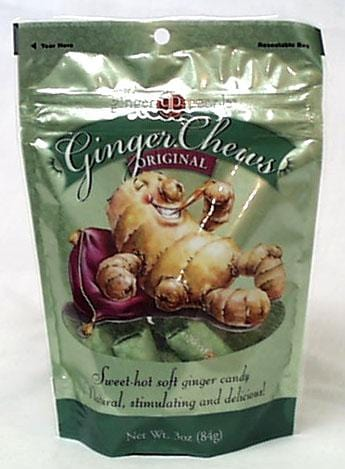Ginger People Gin Gins Original Ginger Chewy Candy - 3 x 2 ozs.