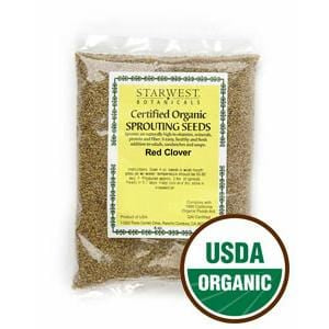 Starwest Red Clover Sprouting Seeds, Organic - 4 ozs.