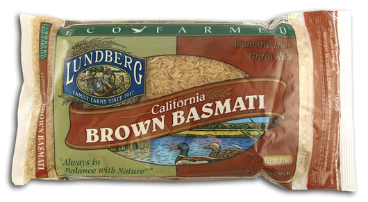 Lundberg Basmati Brown Rice Eco-Farmed Gluten-Free - 2 lbs.