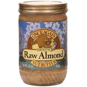 Once Again Nut Butter Inc. Almond Butter Smooth Raw - 12 x 16 ozs.