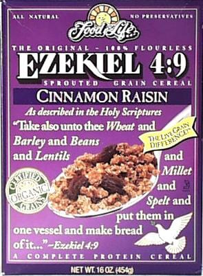 Food For Life Ezekiel Cereal Cinnamon Raisin Organic - 3 x 16 ozs.