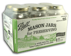 Ball Canning Jars Wide 2 Quart - Case/6
