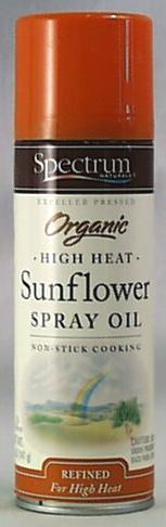 Spectrum High Heat Sunflower Spray Oil Organic - 6 x 5 ozs.