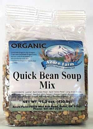 Azure Farm Quick Bean Soup Mix Organic - 8 x 15.2 ozs.