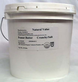 Once Again Nut Butter Inc. Peanut Butter Crunchy Salted Organic - 9 lbs.