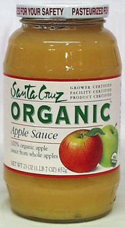 Santa Cruz Apple Sauce Organic - 12 x 23 ozs.