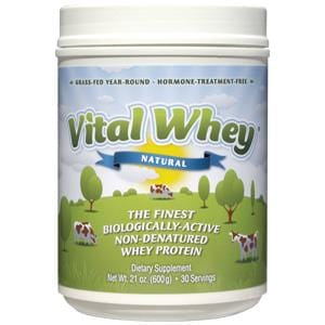 Well Wisdom Whey Vital Protein Powder, Natural - 6 x 21 ozs.