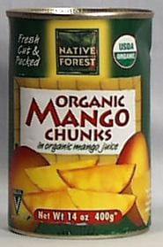 Native Forest Mango Chunks Organic - 6 x 14 ozs.