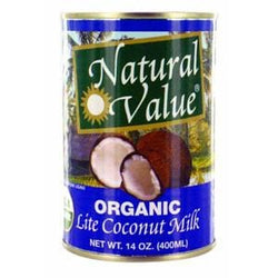 Natural Value Coconut Milk, Lite, Organic - 13.5 ozs.