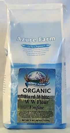 Azure Farm Hard White W.W. Flour (Unifine) Organic - 5 lbs.