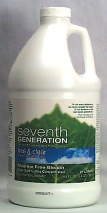 Seventh Generation Chlorine Free Bleach Free & Clear 21 loads - 6 x 64 ozs.